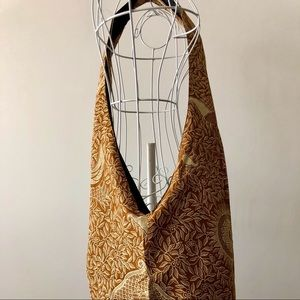 Batik Cloth Bag NWOT - Brown